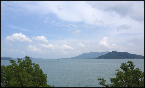 Looking across the water to Phuket
