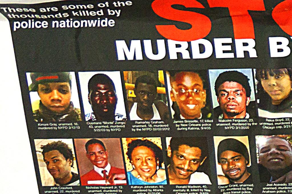STOP MURDER BY POLICE--Italian Market (detail)