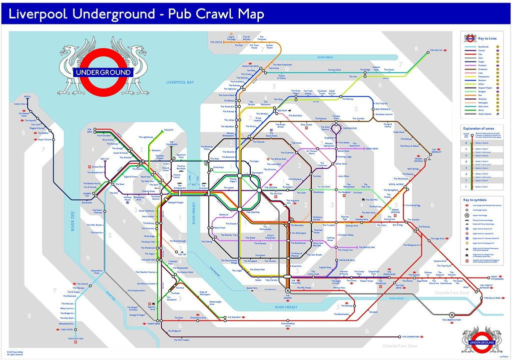 LIVERPOOL UNDERGROUND  PUB CRAWL MAP  This Is An