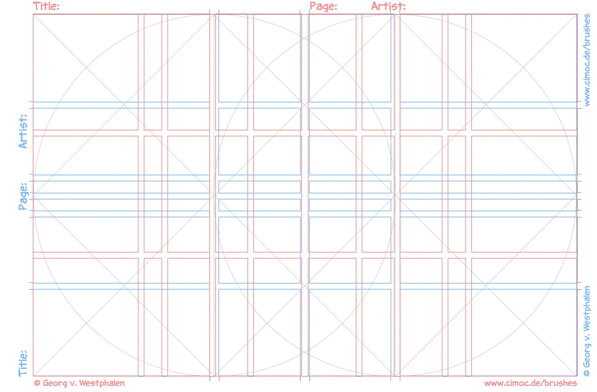 georg s comic panel layout templates