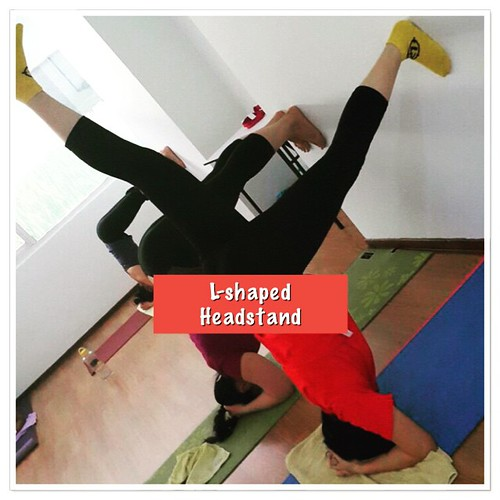 New trick we learned in #yoga at #brillkidsfamily this week - L-shaped headstand.