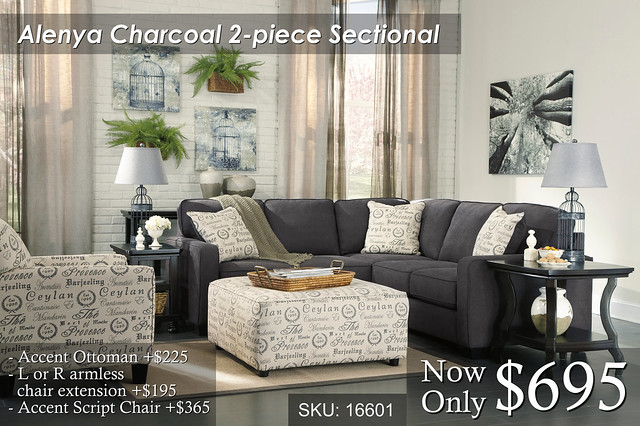 Alenya Charcoal Sectional