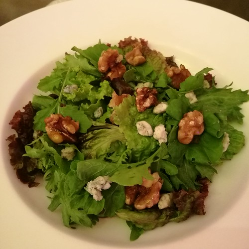 DavaoFoodTripS.com photo | Pear, Arugula, Lollo Rossa, Walnut and Blue Cheese Salad  in Misto at Seda Abreeza Hotel