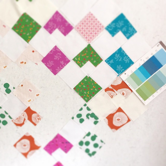 The white background isn't doing it for me. I'm contemplating Seafoam Green (lower left on #rjrfabrics color card).