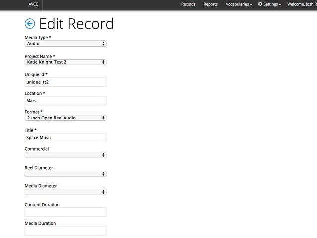 EditRecord