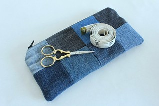 Upcycled Patchwork Zipper Pouch on Etsy | by smithsoccasional