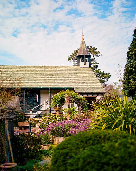 © 2016. Church of the Wayfarer garden in Carmel-by-the-Sea, California. Monday, Oct. 31, 2016. Portra 400, Pentax 6x7.
