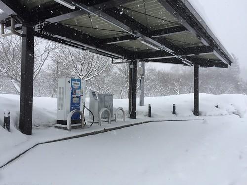秋田自動車道 錦秋湖SA(下り) EV急速充電器