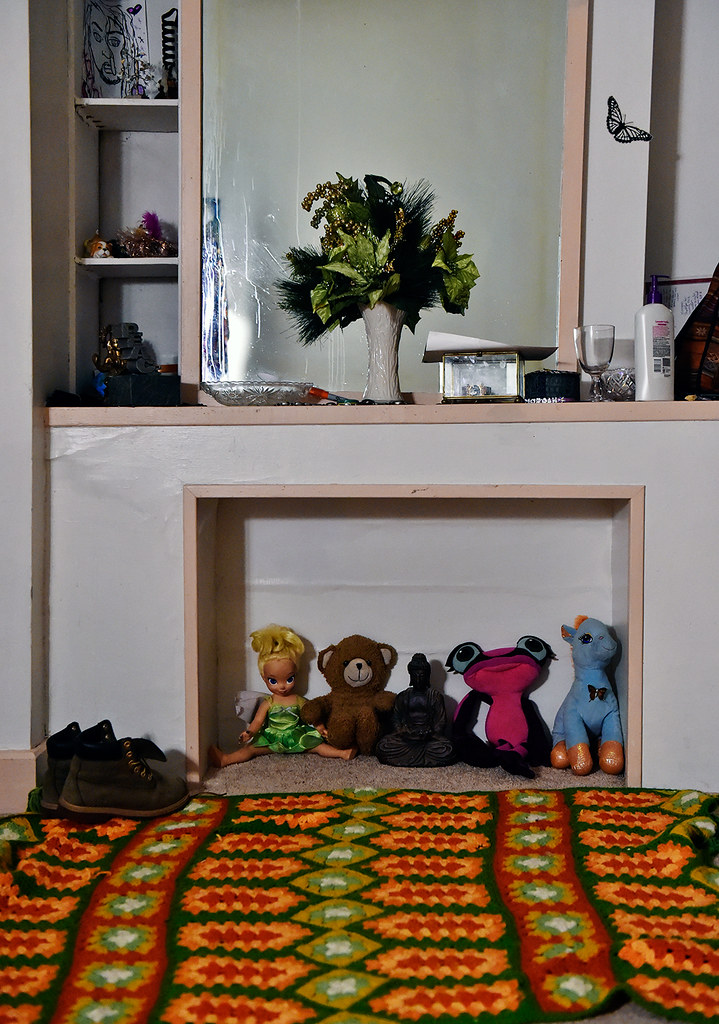 © 2016 by The York Daily Record/Sunday News. A collection of dolls and stuffed animals given to Morgan Washington-Henry over the years is nestled inside a mantel in her York apartment Thursday, Oct. 20, 2016.