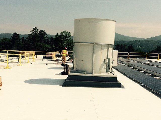 Techs on roof