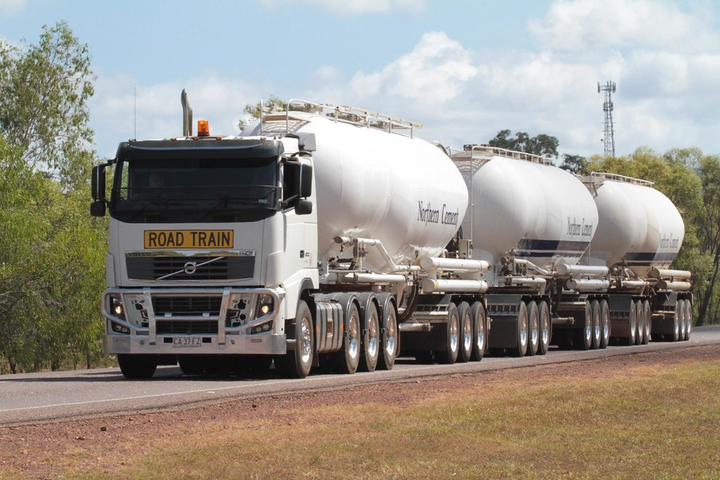 northern cement volvo roadtrain truck stuart highway sou flickr. Black Bedroom Furniture Sets. Home Design Ideas