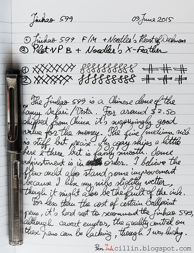 Jinhao 599 writing sample