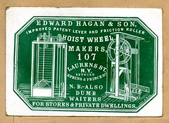 Cameo business card ca.1850-60's by R.Laubenheimer