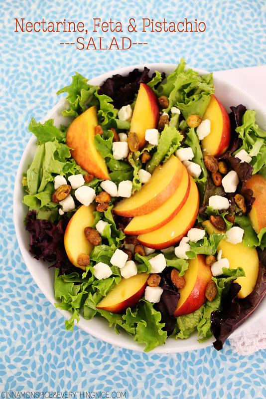 Nectarine, Feta & Pistachio Salad | Cinnamon-Spice & Everything Nice