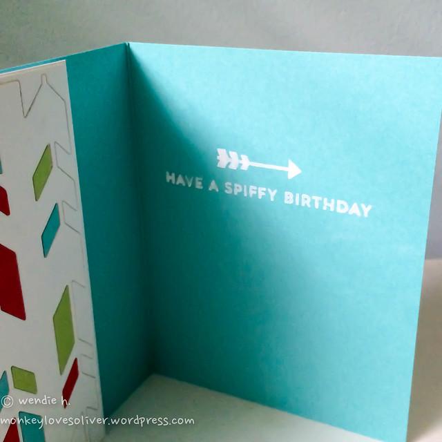 retro arrows / spiffy birthday