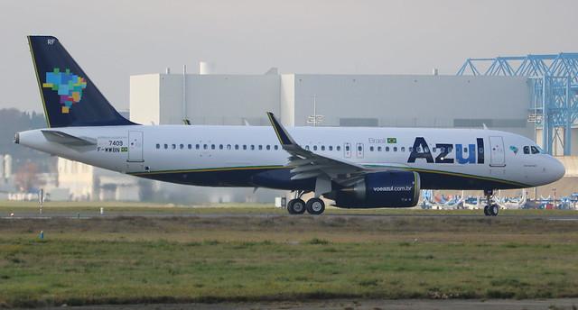 AIRBUS A320-251N AZUL F-WWBN MSN7409 (PR-YRF) A L'AEROPORT TOULOUSE-BLAGNAC LE 04 01 17