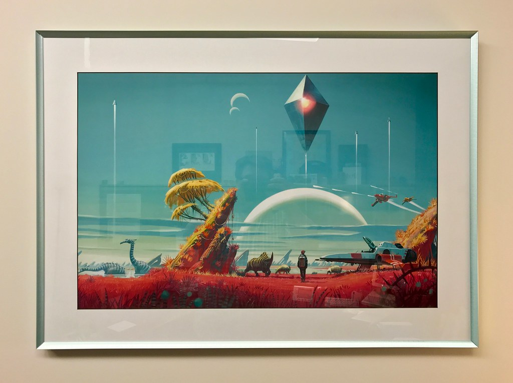 framed No Man\'s Sky print | 20x30-inches | Blake Patterson | Flickr