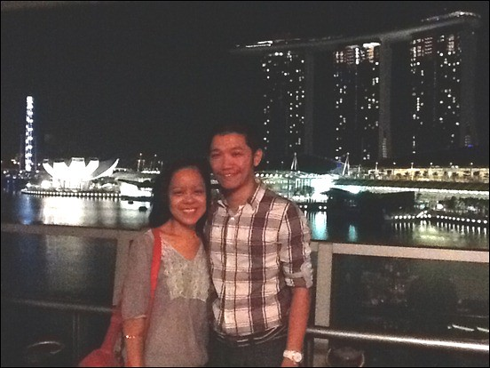 Wedding Proposal at Lantern Rooftop Bar, Fullertone Bay Hotel