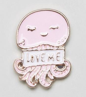 pink jellyfish pin