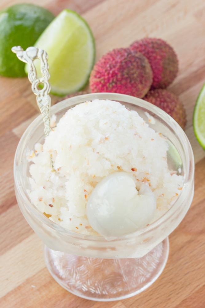 Lychee Lime Granita | The Viet Vegan | Glittering sweet snow that is perfect for summer patios and humid nights