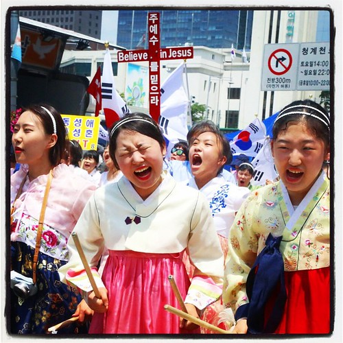 Someday, after they catch up to history, and Korean extreme Protestestantism has moved on to some other issue to define itself in the face of increasing social irrelevance, these young ladies are really going to regret this day.