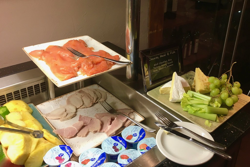Breakfast at Worsley Park Marriott Hotel smoked salmon and cheese