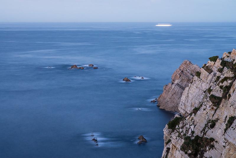 Cabo Peñas, de noche