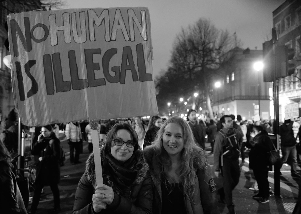 no human is illegal antitrump rally in london