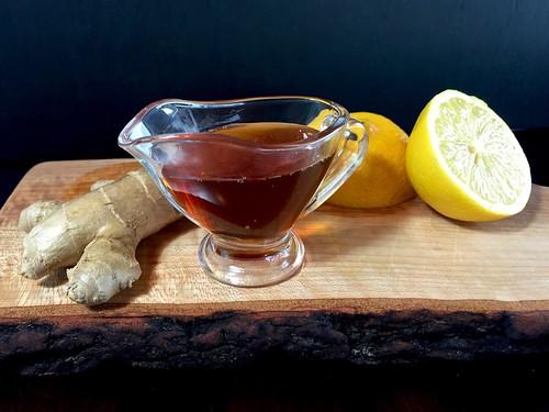 ginger, lemon, and honey