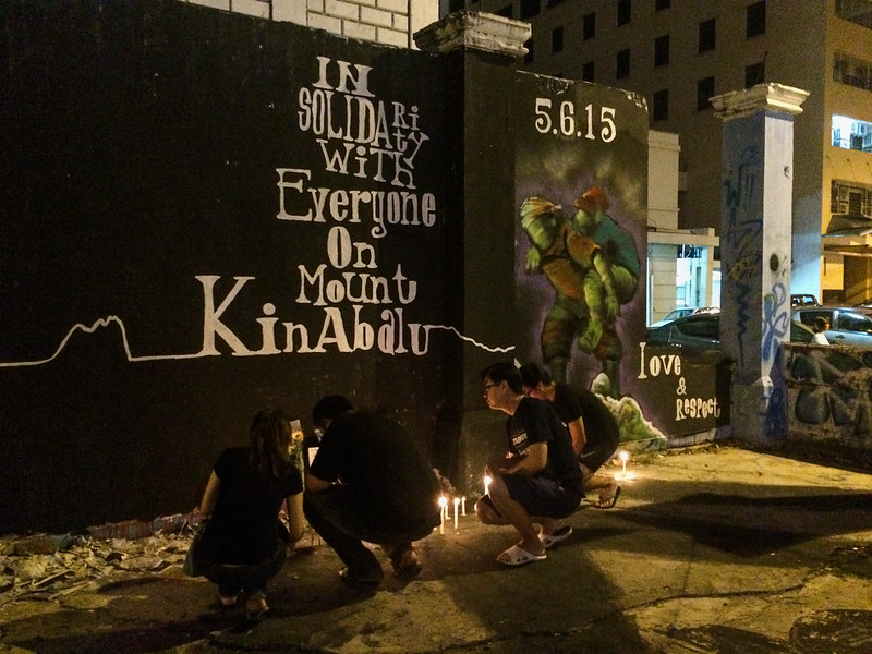Candlielight vigil - in solidarity with everyone on Mount Kinabalu
