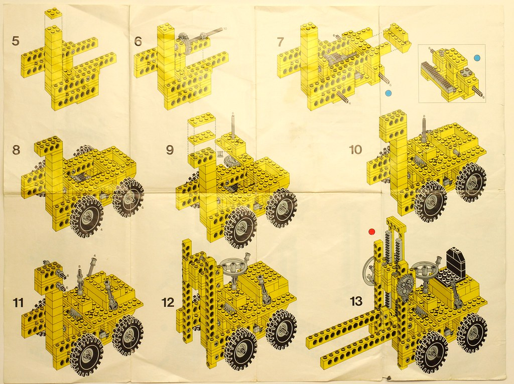 Throwback thursday 1977 brickset lego set guide and database for all the sets the second sheet had the instructions for alternate models and also had a blueprint style graphic printed at a scale of 11 malvernweather Images