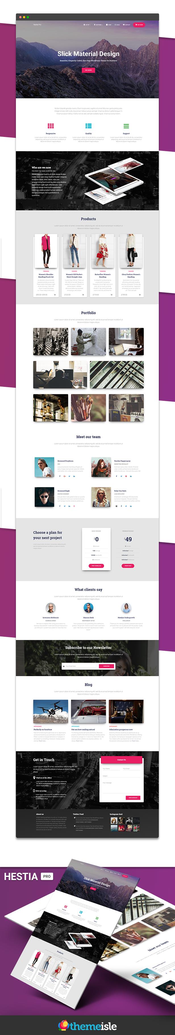 Hestia Pro - Sharp Material Design Theme For Startups - 8