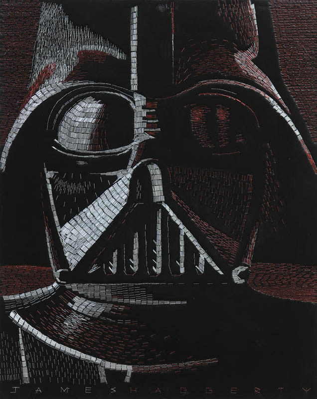Star Wars staple mosaics by James Haggerty - Darth Vader