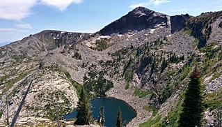Hunt Peak above Fault Lake