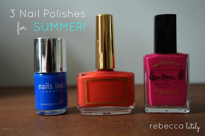 Three Nails Polishes Summer