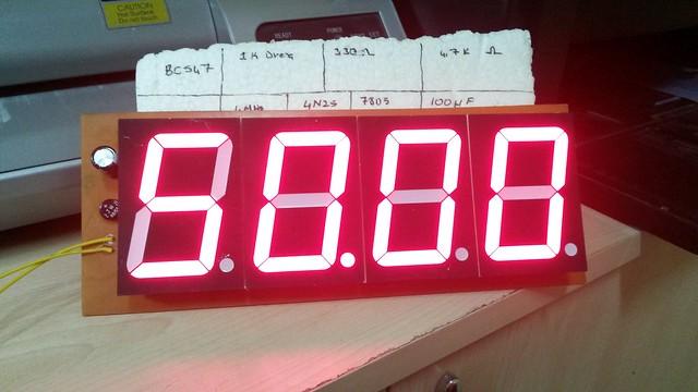 57mm Display'li Frekansmetre devresi