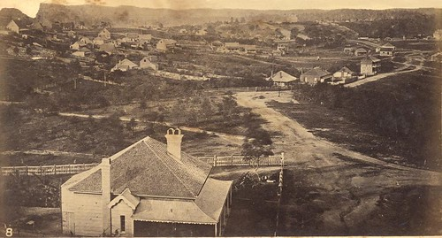 Wickham terrace brisbane from the observatory in 1863 for Queensland terrace state library