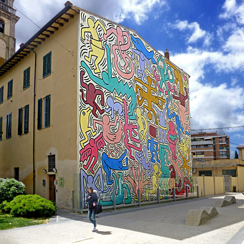 Pisa tuttomondo by keith haring murale 1989 chiesa for Club de suscriptores mural