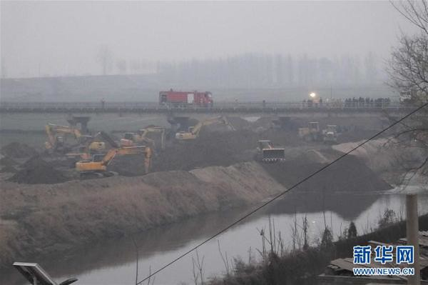 Contained crude truck fell into the fenhe River in Shanxi province continued: pollution elimination, yuncheng termination of emergency response