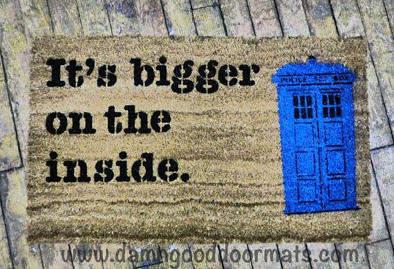 Damn Good Doormats - Doctor Who TARDIS
