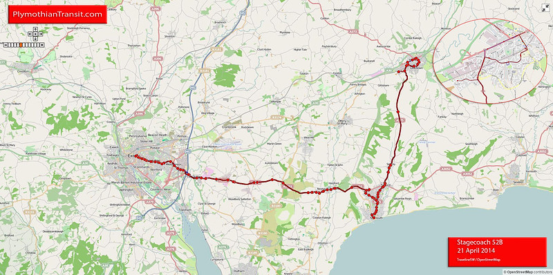 52B Exeter - Sidmouth - Honiton