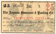GA, Augusta-Augusta Insurance & Banking Co-$000.25 1863-01-01 GD