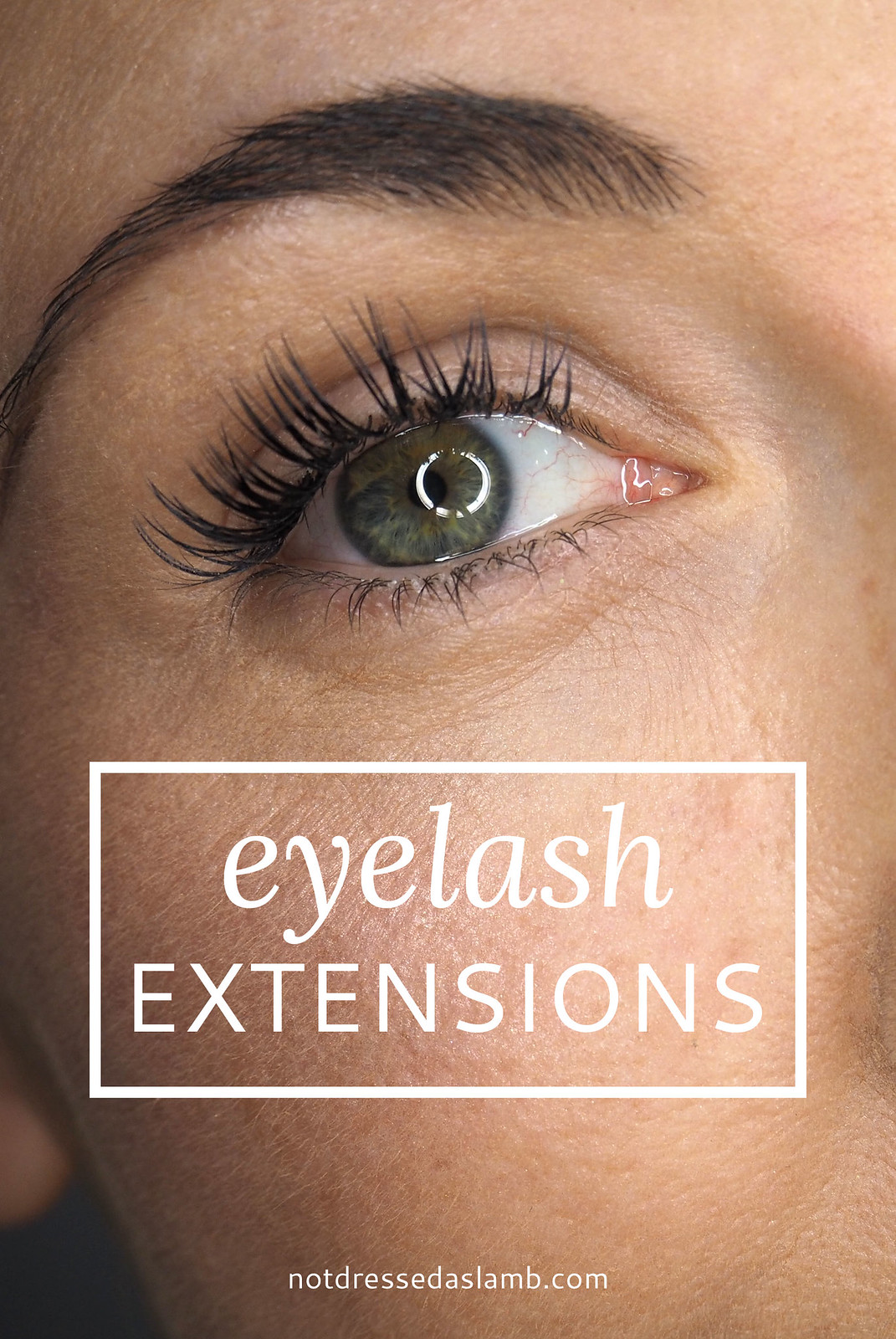 Eyelash extensions: The process | Not Dressed As Lamb, over 40 style