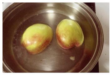 Mazamorra de manzana con chuño
