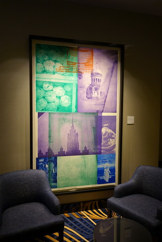 One of Robert Rauschenberg's multi-dimensional pieces rests in a lounge area right off the resort casino. From Artworks from the Wonderful to the Whimsical: The Heritage Collection at MGM National Harbor