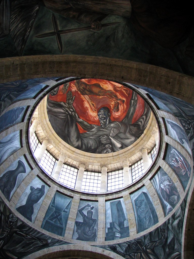 Hombre de fuego man of fire by jos clemente orozco for El hombre de fuego mural de jose clemente orozco