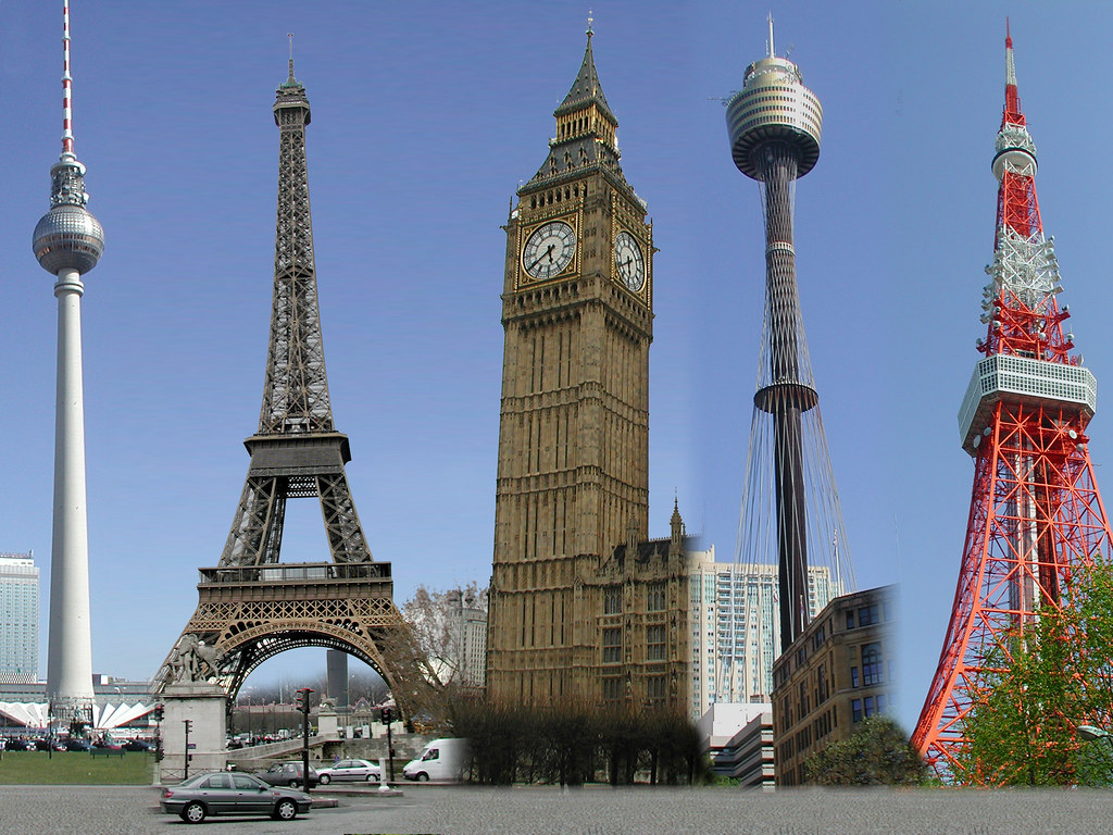 Towers around the world l to r berlin paris london for Names of famous towers