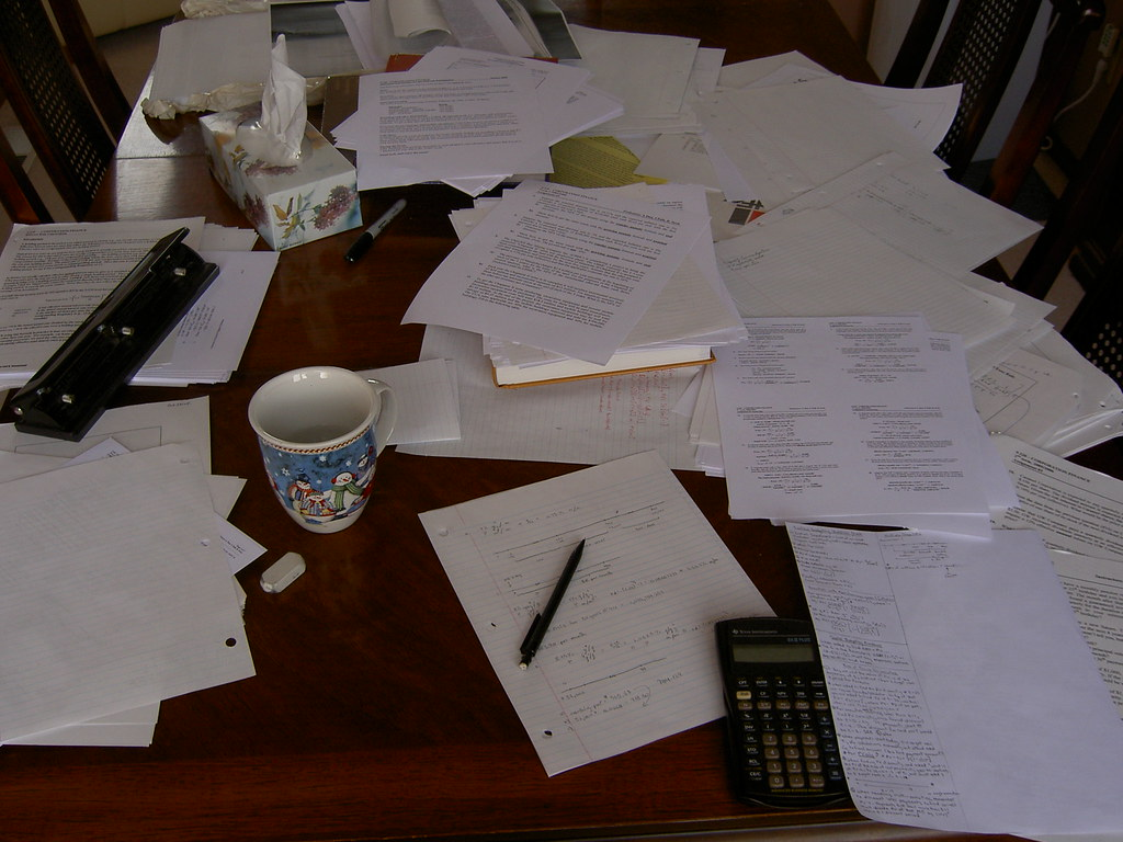 Messy dining room table corporation finance course for Dining room tables 0 finance
