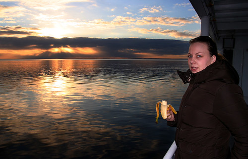 sunset+banana=happiness | by Jess P.C.