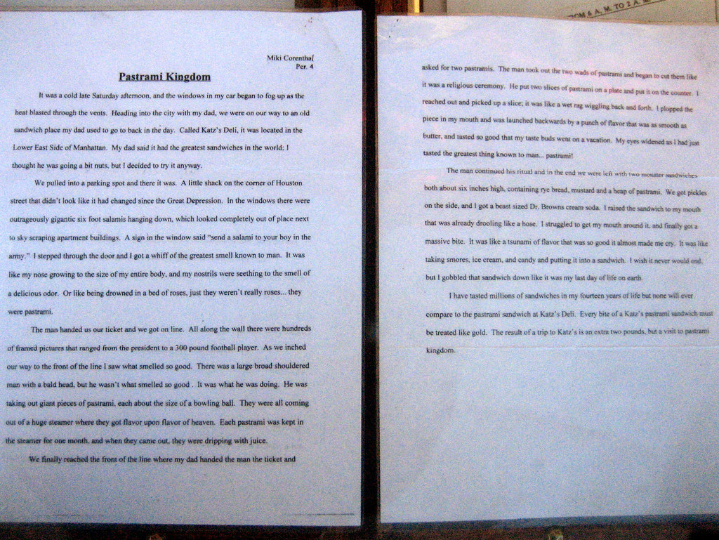 essay katz s delicatessen cute essay zoom in to robyn essay katz s delicatessen cute essay zoom in to robyn lee flickr